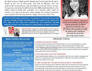 the Art of Change Aden Nepom One Sheet